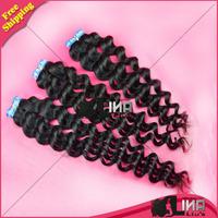 6A Best Selling Virgin Brazilian Hair Weaves Deep Wave 12 - 30 inch, 3 Bundles or 4 pcs Brazilian Wavy Hair DHL Free Shipping