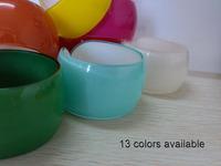 13 colors avaiable 24pcs/lot  wide acrylic arm & cuff bangle bracelet 4.0cm wide dia. 6.0cm Free shipping