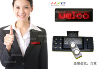 LED name badges Scrolling Display Sign,Comes in Red,EU languages,7*29 Pixel Signs 3pcs/lot,Free shipping 80*30*5mm