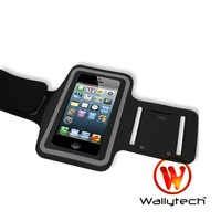 50 X Wallytech Free Shipping New Elastic Rubber Sports Running Arm Armband Cover Case For iPhone5  (WIA-106)