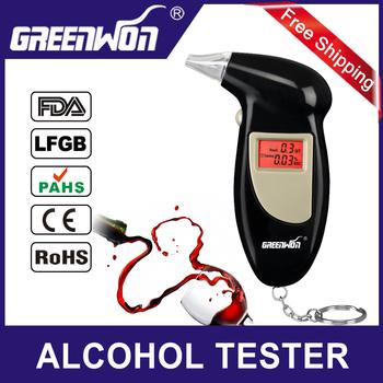 Backlit Display Digital LCD Breathalyzer Audible Alert Breath Alcohol Tester  Alcohol Analyzer Test Tester Breathalyzer Detector