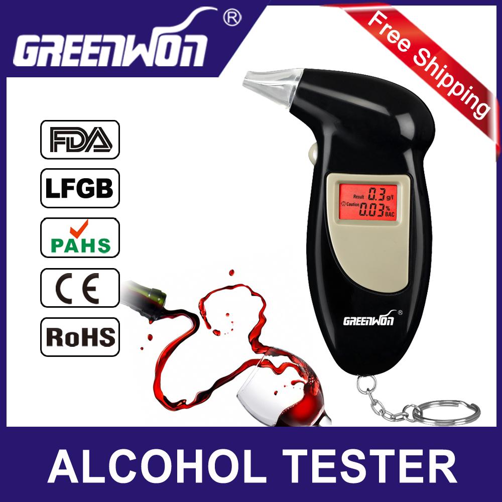 Backlit Display Digital LCD Breathalyzer Audible Alert Breath Alcohol Tester Alcohol Analyzer Test Tester Breathalyzer Detector(China (Mainland))