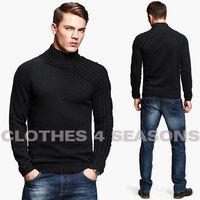 High Quality KUEGOU Winter Sweater Men Brand Casual Knitted Sweater Fashion Knitwear Men's Sweater