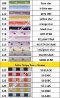 10000pcs Free DHL/FEDEX shipping Paper Straws, Striped Paper Straws, Drinking Paper Straws 60 colors mix  25pcs/pack