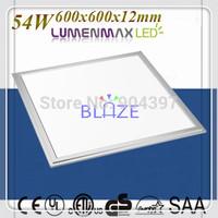 5pcs/Lot LumenMax leds 54W White Flat LED Panel Lamp for Ceiling Light 600x600mm Save 85% Energy