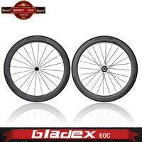 BladeX PRO ROAD CARBON WHEELSET 460C - 60mm Clincher Carbon Wheels; Ceramic Bearings; Basalt Braking Surface; Bicycle Wheel
