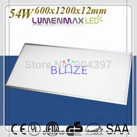 Hot 54W Flat LED Guide Panel Light 600x1200mm 3 Years Warranty LumenMax 2835 LEDS 4pcs/Lot