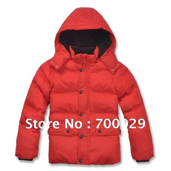 Free Shipping Exclusively For the Russian Market red / Dark blue Cotton Jacket Clothes Of Thick Warm Boy Down Cotton Tampons -B3