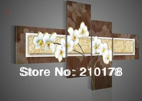 hand-painted oil wall art Quietly elegant white flowers decoration abstract Landscape oil painting on canvas 4pcs/set  DY-010