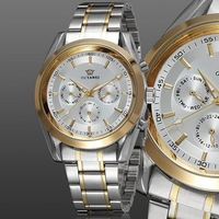 2012 new Ouyawei mechanical men watch wristwatch classic analog display stainless steel band white watches for mens gift