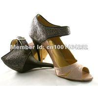 "In stockwholesale Fashion lady's ballroom/latin dance shoes, women dance shoes, 3.9""  heel hight,1 pair mini order free shipping"