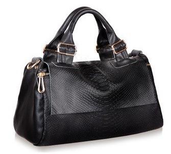 2014 Fashion Handbag Genuine Leather Snake Skin Pattern Women Handbags Designer Brand Tote Messenger Bag