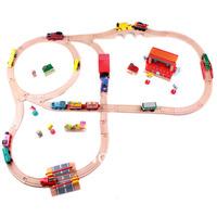 Thomas Wooden TRAIN Train tracks  car toy wooden train wooden toys 10 set track 1 set=32pcs children gift
