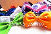 Adjustable Pet Dog Cat Bow collar toys mix colour