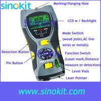 Multifunction 5in1 Digital Distance Meter Stud/Joists Metal Wire Detector Laser Marker Tool 0.6~16m (2 ~ 53 inch) Range SK109A