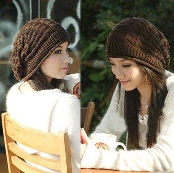 2015 New Women Caps Skullies Autumn Knitted Hat Touca Fashion Girls Winter Hats Warm Beanie Bone Gorro  Drop Shopping