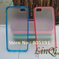 5pcs For iPhone 5S TPU Candy  Bumper Case  Free Shipping