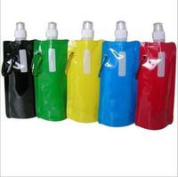 Outdoor sport cartoon portable folding sports water bottle/foldable water bottle 480mlx5stylesx16oz FreeShipping 10Pcs/lot  S017