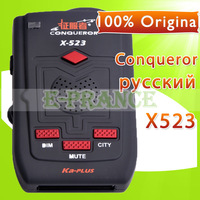 100% Original Conqueror X523 Radar Detector Upgraded from X323 with Russian/English Voice + X KU K Ka-PLUS LASER VG-2