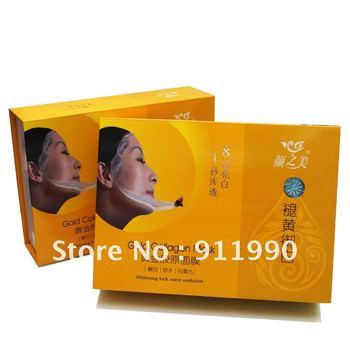FREE SHIPPING 30g/pc 10 pcs/lot Gold Collagen anti-aging Masks