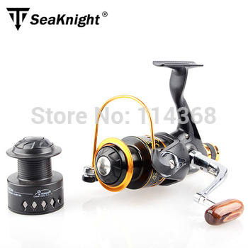 TeBen Brand TNR 300/400 Spinning Fishing Reel  Carp Ice Fishing Gear 5.1:1 Real 9+1BB With Spare Spool