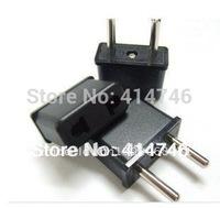 300 pcs/lot New Design US/AU To EU AC Power Plug Adapter Travel Converter Plug Free shipping