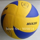 Free shipping FIVB Official size 5 MVA200 PU Laminated volleyball.(China (Mainland))