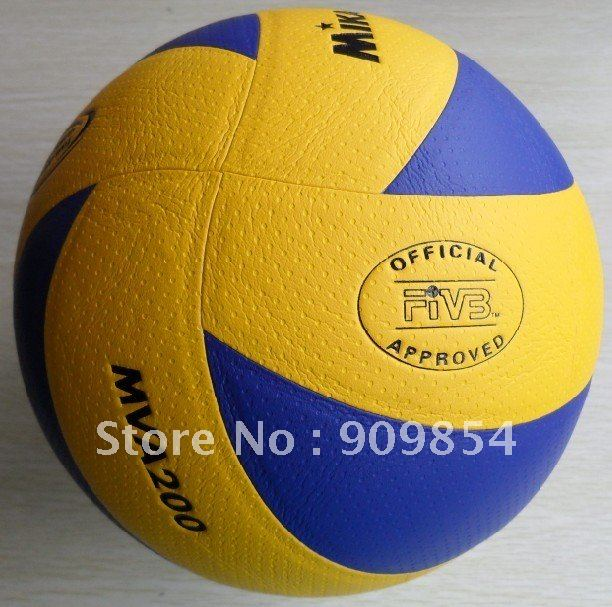 Free shipping FIVB Official size 5 MVA200 PU Laminated volleyball.