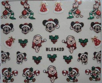 24desgin  nail art sticker Merry christmas nail sticker glitter sticker  100/lot free shipping