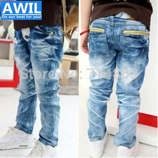 2015 джинсы корейский дизайн очистка воды джинсы мальчиков джинсы с высокое качество материал для 3-10лет дети розницу