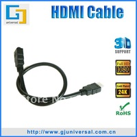 Hotselling 1.6FT(0.5M) HDMI Cable 1.3V, Male to Female hdmi cable awm 20276,1080P HDMI Cable for LCD HDTV DVD PS3