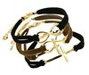 Fashion Jewelry cross anchor infinite multicolor charm leather bracelet for women free shipping mix color B532