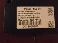 LED grow light power supply 45W  output 45-65V DC current 630mA  Input AC 100-240V  led grow light Aquarium lights driver