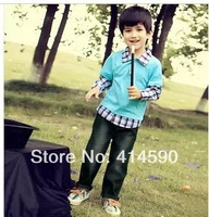 2013newautumn.children's clothing spring and autumn,korean,kidsclothingclothessuithandsome boy  sports suit5set/lotFree shipping