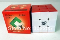 50pcs/lot 5.0cm Dayan zhanchi 3x3x3 magic speed cube twist puzzle assembled black/stickerless +Fedex / EMSree shipping