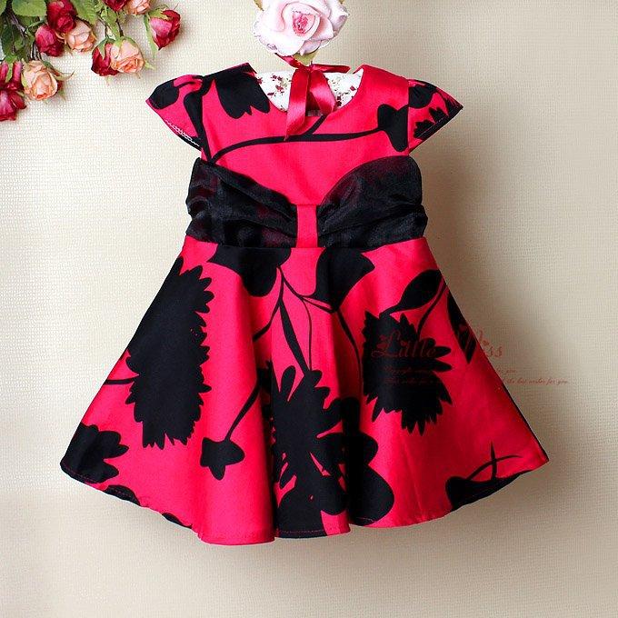 New summer kids girl formal dress flower girl party dress for children
