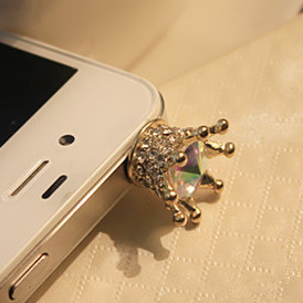 Min.order is $10(Mix order) Free Shipping Factory Direct Phone Accessories Crown Dust Plug DP204