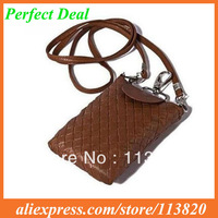 Free Shipping China Post 10pcs/lot Many Colors PU Leather Mobile Phone Bags