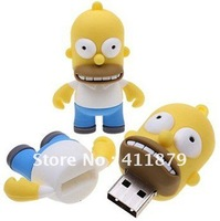 Welcome Mix Cheapest Pen Drive, SIMPSONS HOMER model FIGURE real capacity 8GB 16GB USB flash drive thumbdrive 5pcs/lot