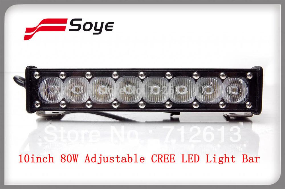 HOT SALE!!!new cree led light in guangzhou market China,10'' offroad cree led lighting bar adjustable 8W-80W ATV driving light(China (Mainland))