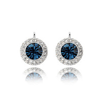 100% Austria Crystal Platinum Plated Drop Earrings