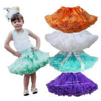 Retail Girls Pettiskirt 3M-15T Children Baby Solid Color Princess TuTu Skirts Orange Purple Mint Kid Clothes Free Shipping 1 PCS