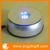 Free Shipping  7 colorful super brightness leds rotary display stand turntable for Jewelry