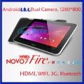 "Free Shipping 7"" Android 4.0 1GB/16GB Dual Core 1.5GHz Ainol Novo7 Fire tablet pc With Dual Cameras, bluetooth, WIFI, 3G,OTG"