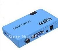 Digital TV Box LCD VGA/AV Tuner DVB-T FreeView Receiver Digital Terrestrial TV/Radio Program Playing  Free shipping
