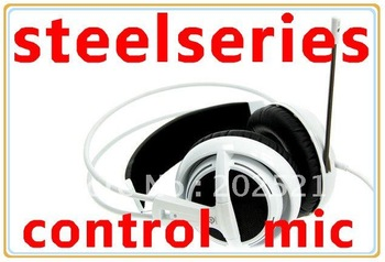 OEM Steelseries Siberia V2 Gaming Headphone With Control and Mic Without Package Free Shipping Black ,White, Red, Blue