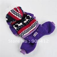 Fashion Purple Four Legs Suit  Dog Jumper Pet Clothing Made Of High Grade Corals Velvet