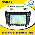 Updated ! 512M RAM Android Car DVD for Mazda 6 2008-2012 with GPS ,Radio, Canbus BT iPod USB/SD+ (Optional DVB-T 3G Wifi )