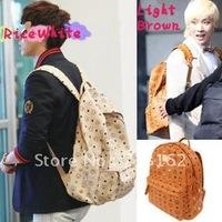 Cool Korea KPOP EXO BigBang G-dragon GD SJ TVXQ Girls' Generation Punk Gothic Rock Rivet Backpack Shoulders PU Bag  4 Colors