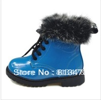 Free shipping! Boys and Girls winter children boots/ kids shoes, Warm and cute breathable rabbit fur martin boots/New arrival